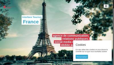 Site internet de Interface Tourism