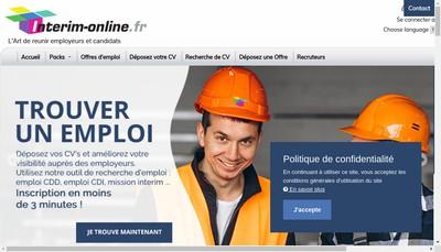 Site internet de Universal Recrutement Services