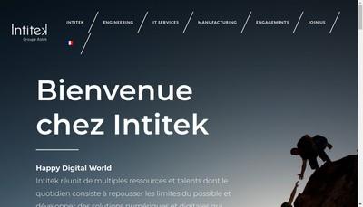 Site internet de Intitek For People