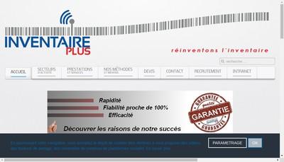 Site internet de Inventaire Plus