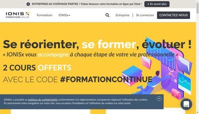 Site internet de Ionis X