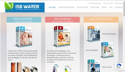 Site internet de Isb Water