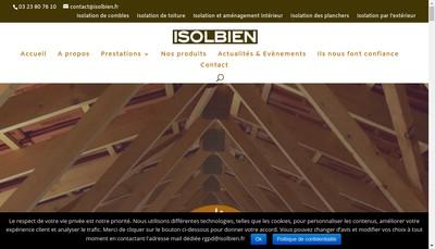 Site internet de Isolbien