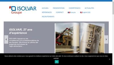 Site internet de Isolvar