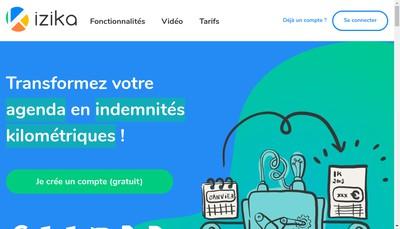 Site internet de Izika