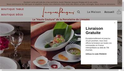 Site internet de Porcelaines Jacques Pergay