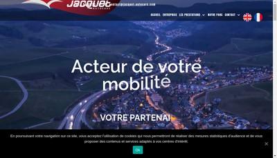 Site internet de Autocars Jacquet