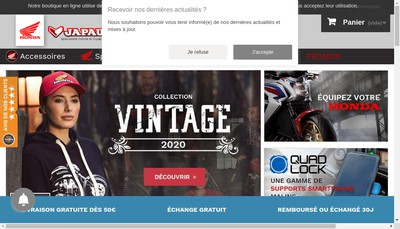 Site internet de Japauto Moto