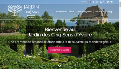 Site internet de SARL le Labyrinthe Jardin des Cinq Sens