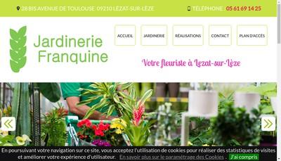 Site internet de Jardinerie Franquine