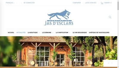 Site internet de Jas d'Esclans