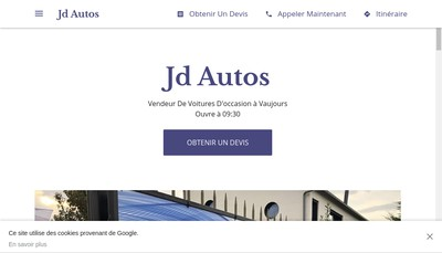Site internet de Jd Autos