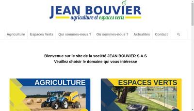 Site internet de Jean Bouvier SAS