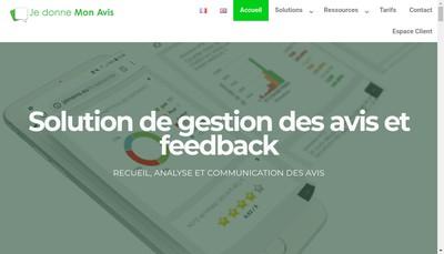 Site internet de Je Donne Mon Avis