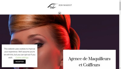 Site internet de Jess Make Up