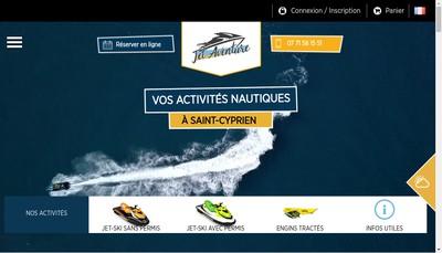 Site internet de Jet Aventure 66