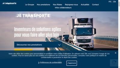 Site internet de Transports Pineau