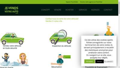 Site internet de Je Vends Votre Auto Com