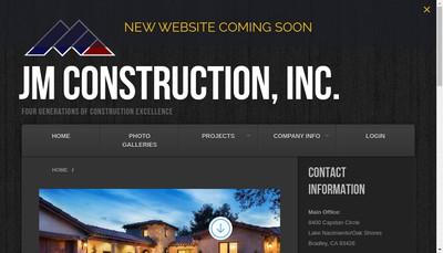 Site internet de Jm Construction - Jmc