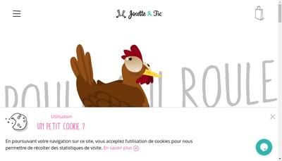 Site internet de Josette & Tic