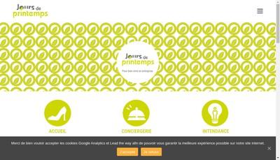Site internet de Jours de Printemps Conciergerie