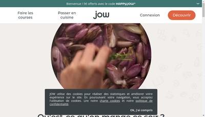 Site internet de Jow