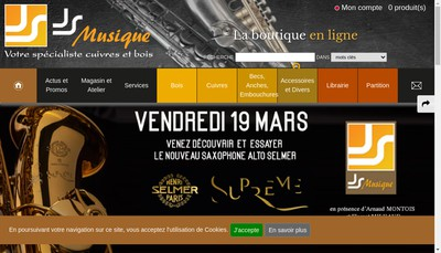 Site internet de Js Musique