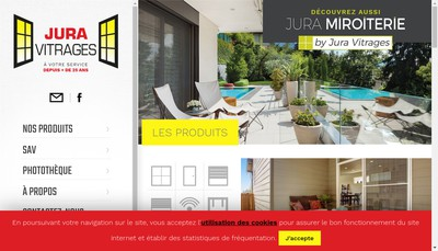 Site internet de Jura Vitrages