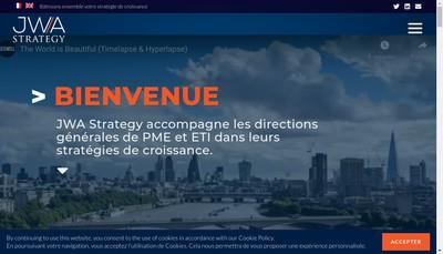 Site internet de Jwa Strategy