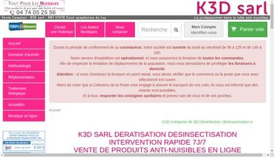Site internet de Tout pour les Nuisibles France Nuisibles