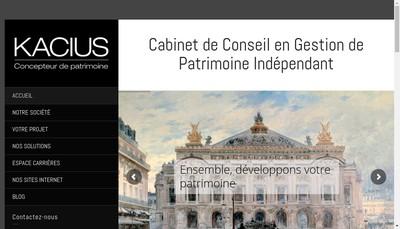 Site internet de Kacius