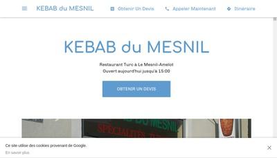 Site internet de Kebab du Mesnil