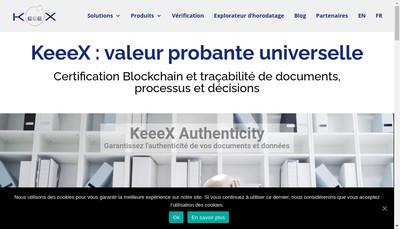 Site internet de Keeex