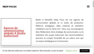 Site internet de Keep Focus