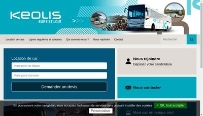 Site internet de Keolis Eure et Loir
