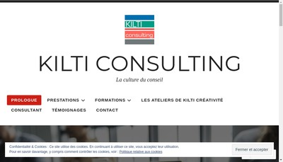 Site internet de Kilti Consulting