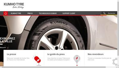 Site internet de Kumho Tire France