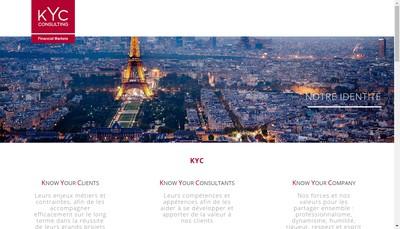 Site internet de Kyc Consulting