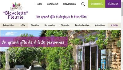 Site internet de La Bicyclette Fleurie