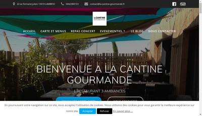 Site internet de La Cantine Gourmande