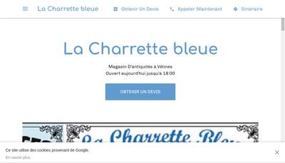Site internet de La Charette Bleue