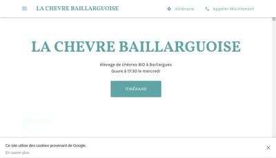 Site internet de La Chevre Baillarguoise