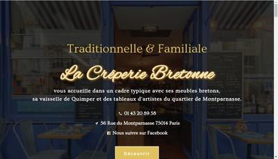 Site internet de La Creperie Bretonne