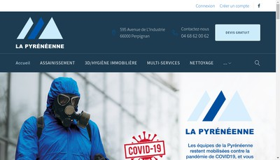 Site internet de La Pyreneenne Hygiene-Services