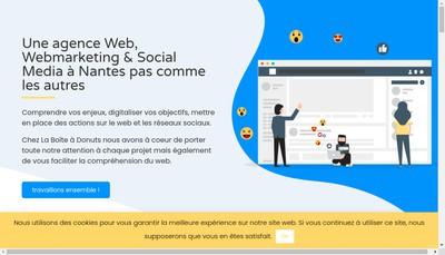 Site internet de La Boite a Donuts