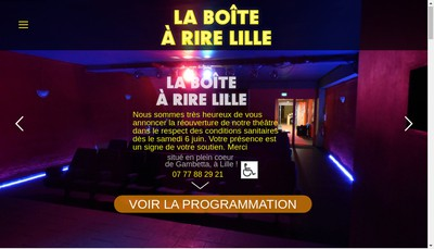 Site internet de La Boite a Rire Lille