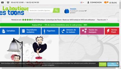 Site internet de La Boutique des Toons