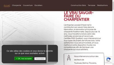 Site internet de Lacaze Charpente Bois