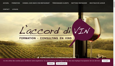 Site internet de L'Accord Divin Distribution