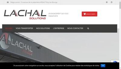 Site internet de Lachal Solutions